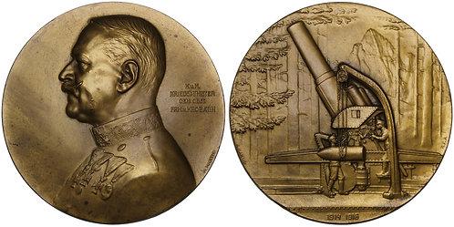 100421  |  AUSTRIA-HUNGARY. Alexander Freiherr von Krobatin bronze Medal.
