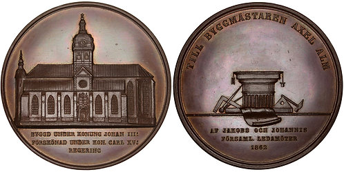 101354  |  SWEDEN. Stockholm. St. James's Church/Axel Alm bronze Medal.