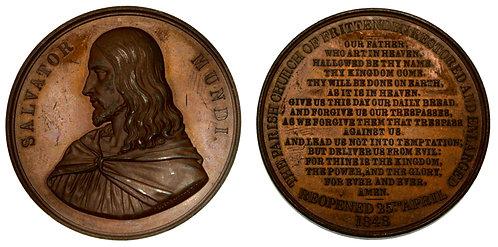 100105  |  GREAT BRITAIN. Jesus Christ bronze Medal.