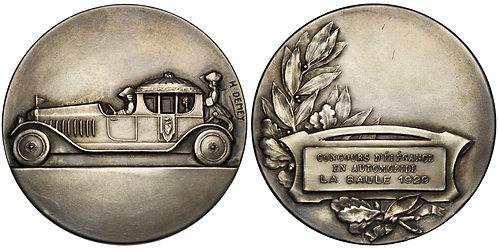 101421     FRANCE. Art Deco Automobile silver Award Medal.