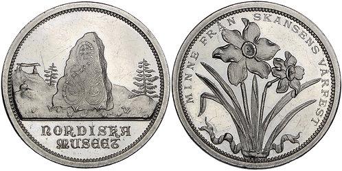 100623     SWEDEN. Stockholm. Vårfest aluminum Medal.