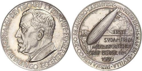 100439  |  GERMANY. Hugo Eckener silver Medal. PCGS SP62.