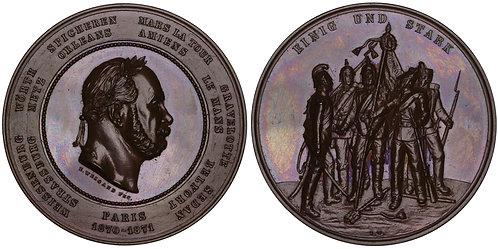 101013  |  GERMANY & FRANCE. Wilhelm I bronze Medal.