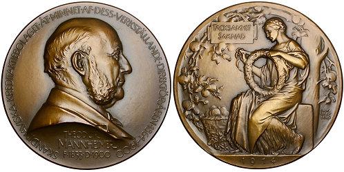 101318  |  SWEDEN. Theodor Mannheimer bronze Medal.