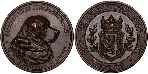 100385  |  GERMANY. Giessen bronze Prize Medal.