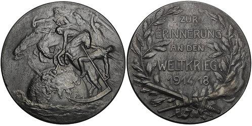 100840     GERMANY. Four Horseman/Propaganda zinc Medal.