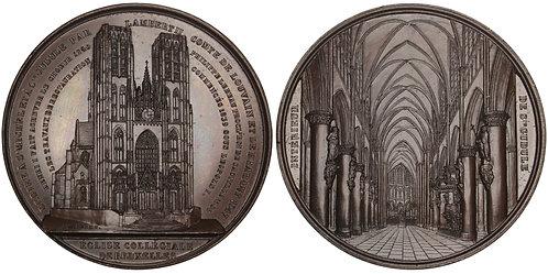 101026  |  BELGIUM. Bruxelles. Cathedral of Sts. Michel & Gudule bronze Medal.