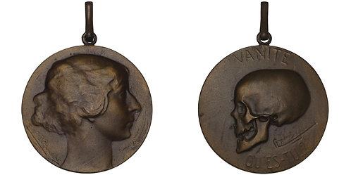 100515  |  BELGIUM. Vanité bronze Medal.
