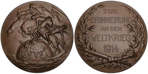 101184  |  GERMANY. Four Horsemen/Propaganda bronze Medal.