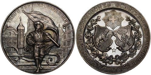 100470  |  SWITZERLAND. Silver Schützenmedaille (Shooting Medal).