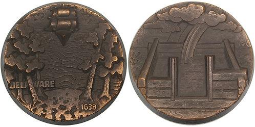 100525  |  UNITED STATES & FINLAND. Finnish Settlement in Delaware bronze Medal.