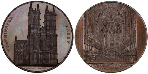100728  |  GREAT BRITAIN. Westminster Abbey in London bronze Medal.