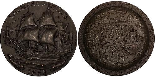 100240  |  UNITED STATES & SWEDEN. New Sweden Founding bronze Medal.