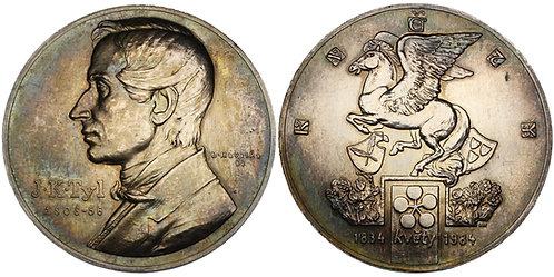 100461  |  CZECHOSLOVAKIA. Josef Kajetán Tyl silver Medal.
