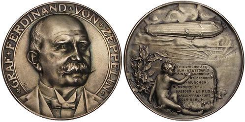 100854  |  GERMANY. Graf von Zeppelin silver Medal.