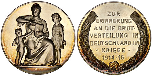 101294  |  GERMANY. Hunger Relief/Propaganda silver Medal.