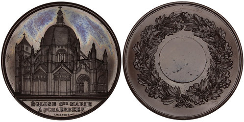101028  |  BELGIUM. Schaerbeek. St. Mary's Royal Church bronze Medal.