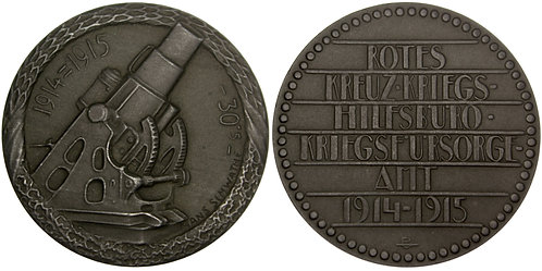 101297  |  AUSTRIA. Škoda 30.5mm Siege Howitzer zinc Medal.
