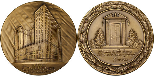 100545  |  UNITED STATES. Commodore Hotel bronze Medal.