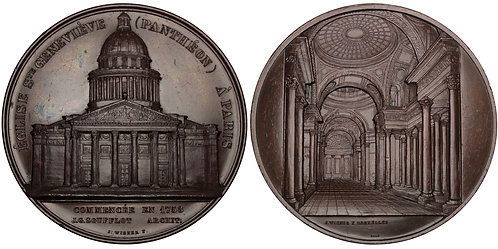 101259  |  FRANCE. Paris. Church of St. Geneviève (Panthéon) bronze Medal.