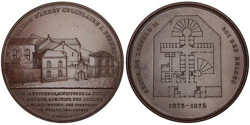 101037  |  BELGIUM. Veurne. Municipal Jail bronze Medal.