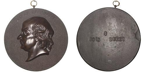 100291  |  FRANCE. Pierre-Jean de Béranger uniface bois durci Medal.