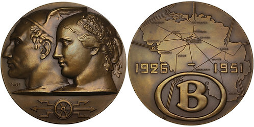 100505  |  BELGIUM. National Railway Company bronze Medal.