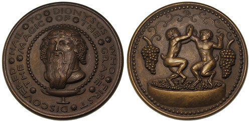 100126 |  UNITED STATES. Hail to Dionysus bronze Medal.