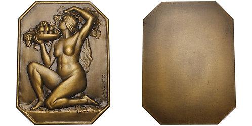 100784  |  FRANCE. Art Deco uniface bronze Plaque.