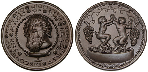 100137  |  UNITED STATES. Hail to Dionysus bronze Medal.
