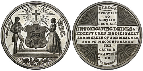 101441  |  GREAT BRITAIN. Temperance Society white metal Medal.