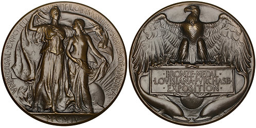 101361  |  UNITED STATES. Louisiana Purchase Int'l Exposition bronze award Medal