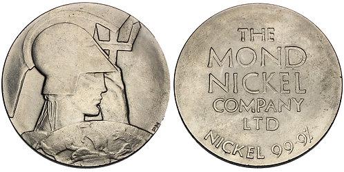 101132  |  GREAT BRITAIN. Art Deco nickel Medal.
