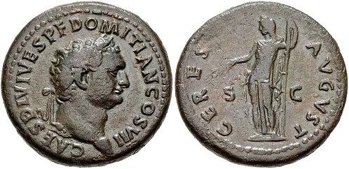 100022   ROMAN EMPIRE. Domitian Dupondius.