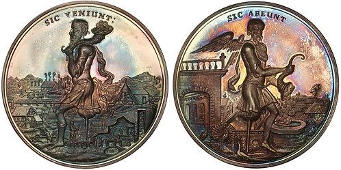 100875  |  GERMANY. Braunschweig-Calenberg-Hannover. Satirical silver Medal.