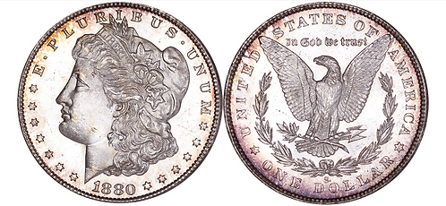 100141     UNITED STATES. 1880-S silver Dollar.