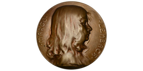 101536  |  GERMANY & AUSTRIA. Margo Lenbach uniface bronze Medal.