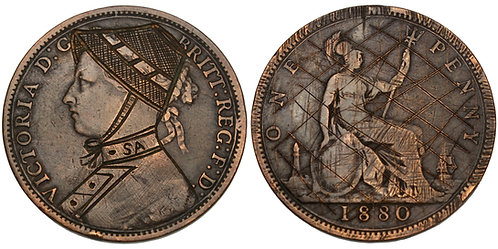101543  |  GREAT BRITAIN & SOUTH AFRICA. Second Boer War satirical copper Penny.