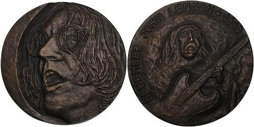 100585  |  GREAT BRITAIN & GERMANY. John Lennon cast bronze Medal.