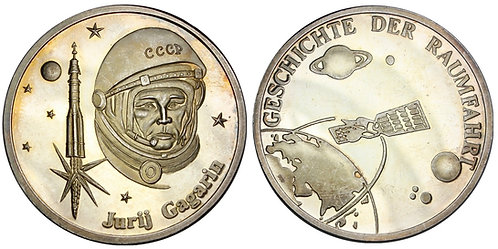 101365  |  SOVIET UNION & GERMANY. Yuri Gagarin silver Medal.