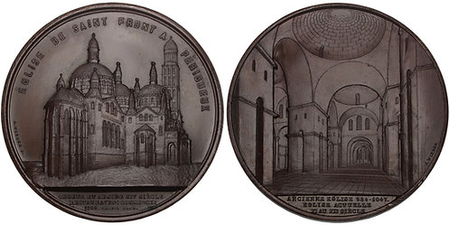 100730  |  FRANCE. Cathédrale Saint-Front de Périgueux bronze Medal.