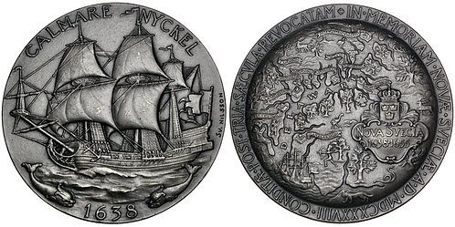101680     UNITED STATES & SWEDEN. 300th Anniversary of New Sweden silver Medal.