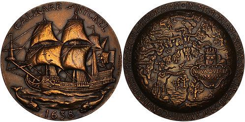 100231  |  UNITED STATES & SWEDEN. New Sweden Founding bronze Medal.