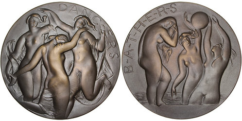 100344  |  UNITED STATES. Dancers and Bathers bronze Medal.