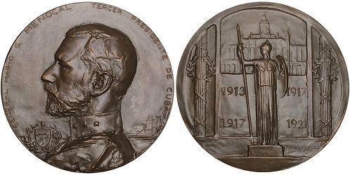 100778     CUBA. Presidente Mario Menocal bronze Medal.
