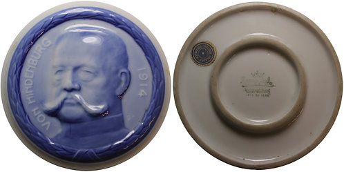 101088  |  GERMANY. Paul von Hindenburg enameled porcelain Medal.