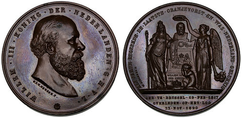100108  |  NETHERLANDS. Willem III bronze Medal.