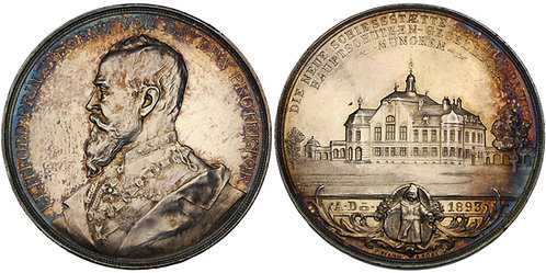 100469  |  GERMANY. Bavaria. Prinzregent Luitpold silver Shooting Medal.