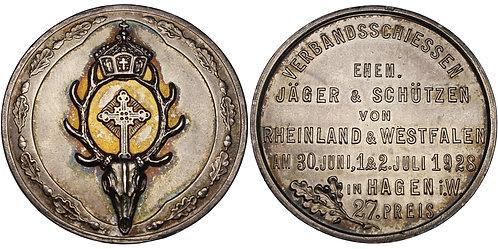 100600     GERMANY. Nordrhein-Westfalen silver award Medal.