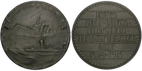 101406  |  AUSTRIA. Sinking of the Léon Gambetta zinc Medal.